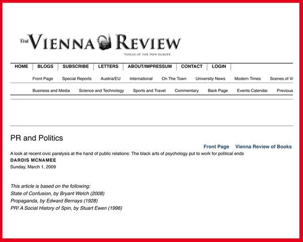 PR and Politics | The Vienna Review-1